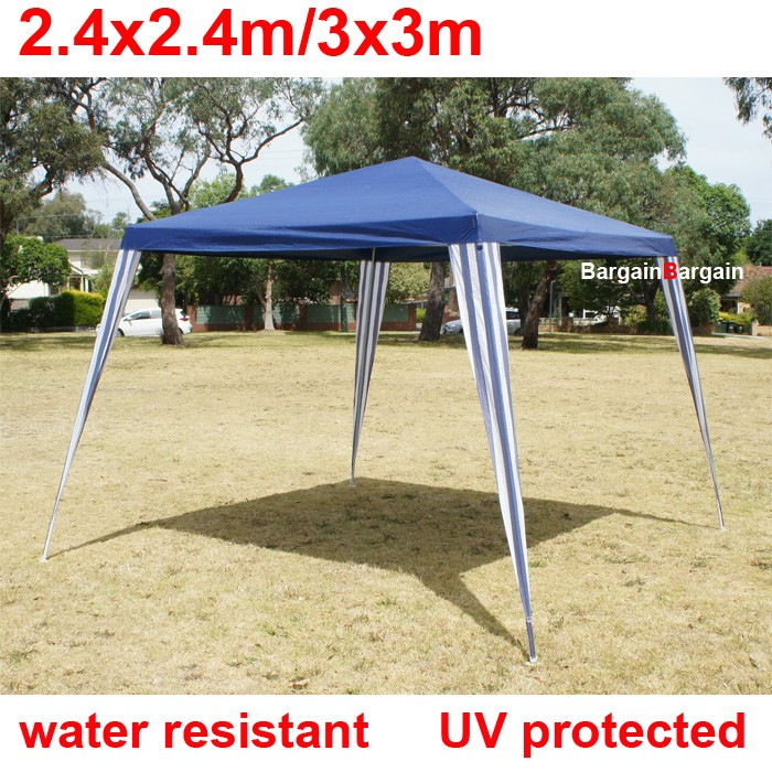 3x3m navy PE easy up folding outdoor party market gazebo marquee canopy tent small  sc 1 st  BargainBargain & navy PE easy up folding outdoor party market gazebo marquee canopy ...