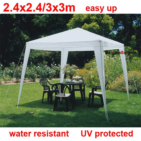 3x3m white PE easy up folding outdoor party market gazebo marquee canopy tent small & 3x3m white PE easy up folding outdoor party market gazebo marquee ...